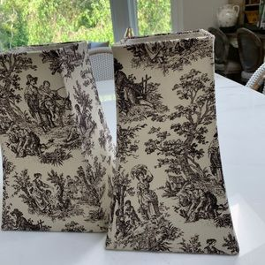 Toile Pair of Lampshade covers